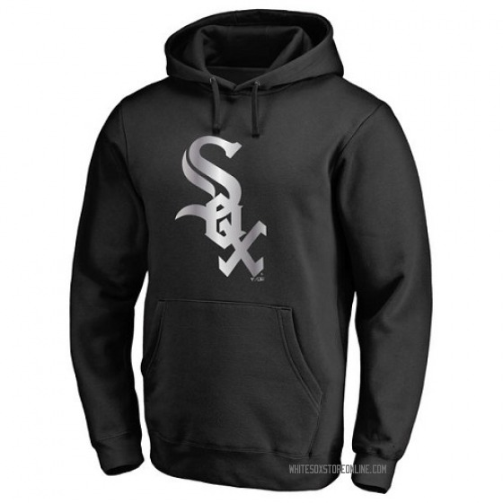Men's Chicago White Sox Black Platinum Collection Pullover Hoodie - -